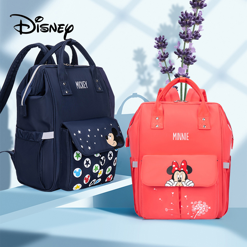 Disney Diaper Backpack Baby Bags for Mom Mickey Minnie Wet Bag Fashion Mummy Maternity Diaper Organizer Travel USB Nappy TravelDiaper Bags   -