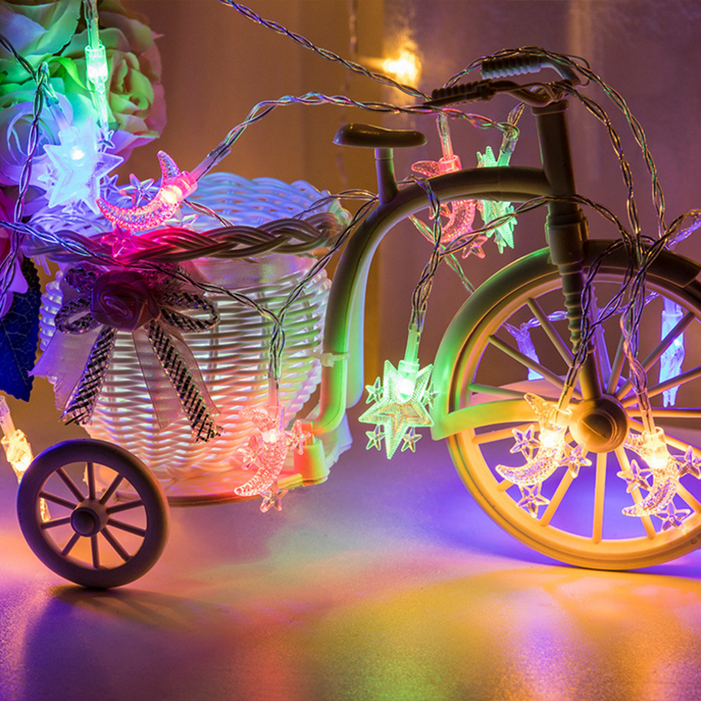 LED Star Moon Fairy Garland String Light Battery Box / Solar / USB Lights Christmas Wedding Home Indoor Decoration Light