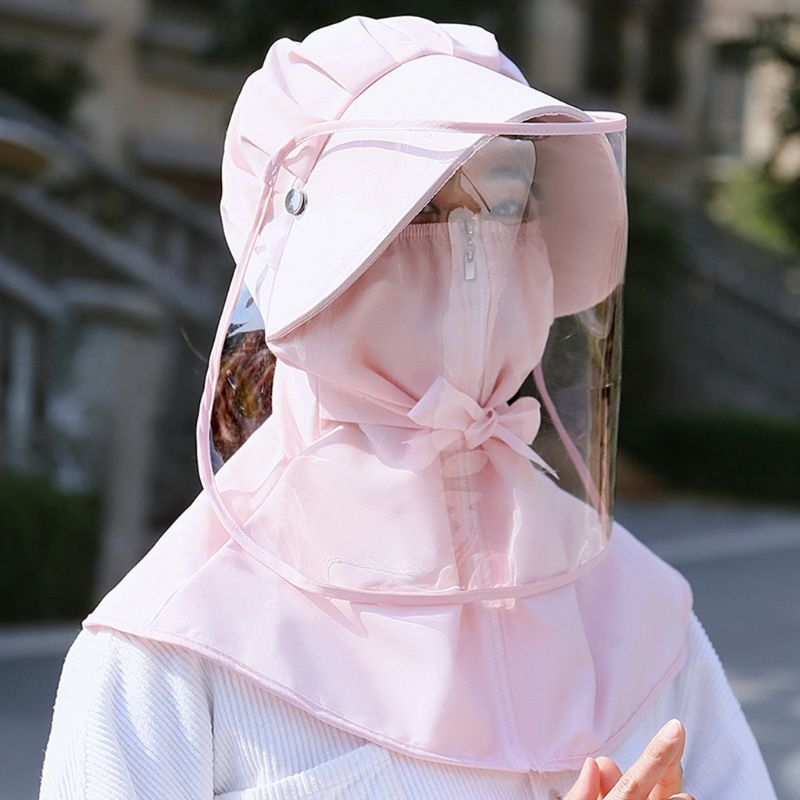 Safety Mask Cover With Hat Anti Flue Spittle Anti Dust Cover Full Face Eyes Protection Mask