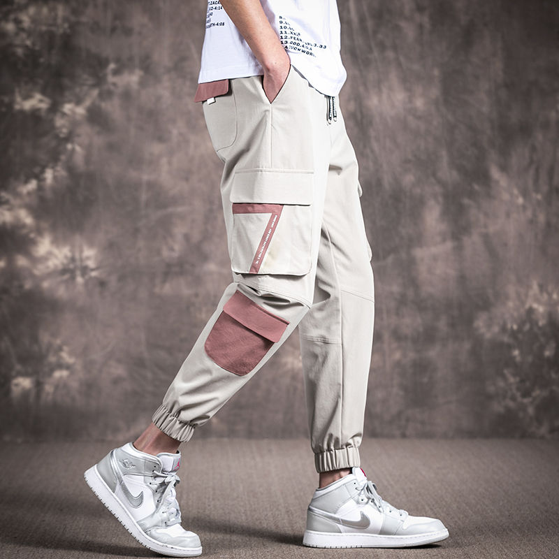 Tomwell Mens Cargo Trousers Slim Fit Jeans Skinny Elastic Drawstring Chinos Pants with Pockets Fashion Casual Sports