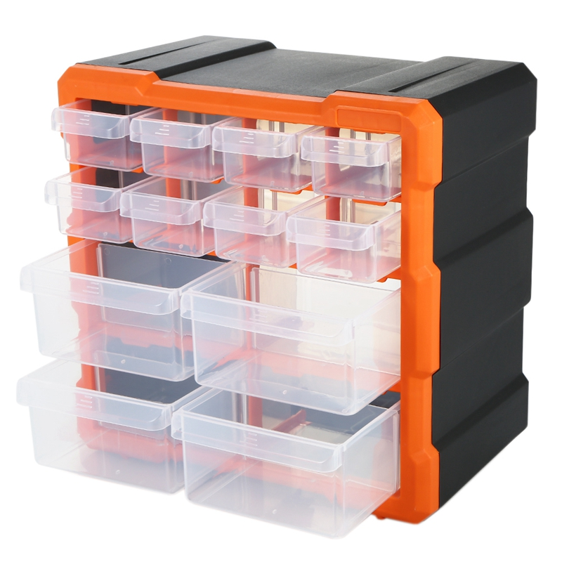 Drawer PP+PS Parts Storage Box Multiple Compartments Slot Hardware Box Organizer Craft Cabinet Tools Components Container