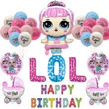 Куклы-сюрпризы Lol, вечеринка, день рождения, воздушный шар для детей, мальчиков, девочек, украшение для дня рождения, фон, детский воздушный ш...