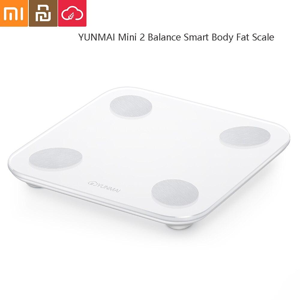 YUNMAI Mini 2 Balance Balance de graisse corporelle intelligente analyse de données intelligente APP contrôle outil de pesage numérique de Xiaomi vous