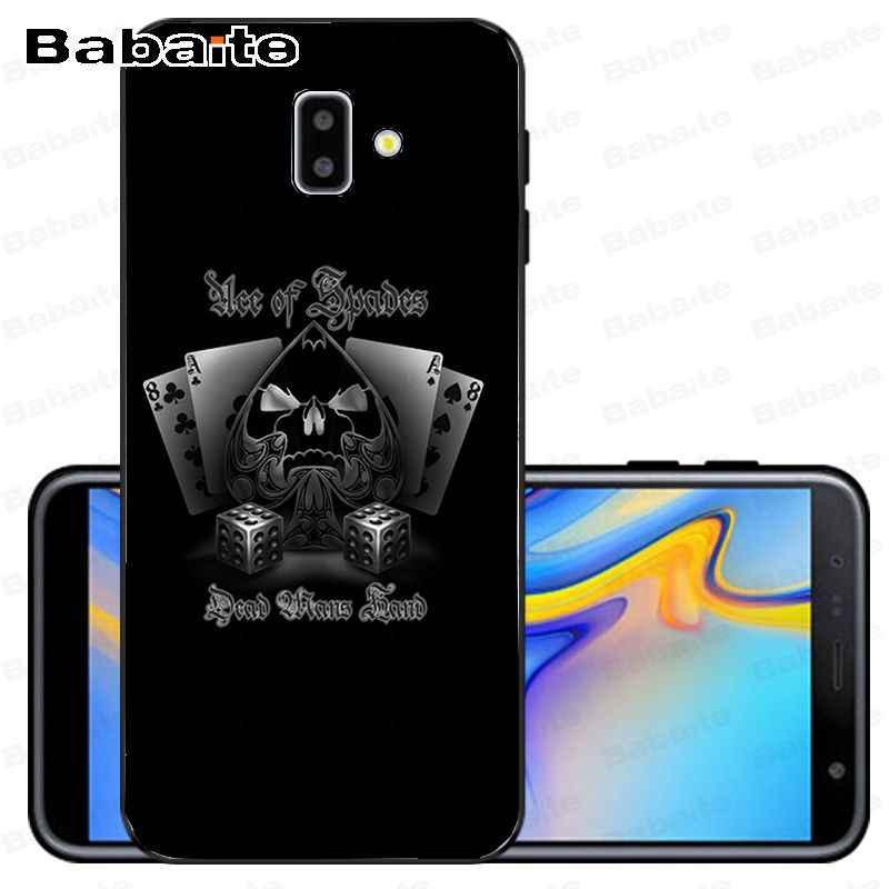 Ace rodziny poker król królowa Smart Cover czarny Soft Shell etui na telefon dla samsung Galaxy j6 plus A6 A8 A9 a10 A30 A50 pokrywa