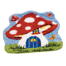50 x 42cm DIY Latch Hook Kit Carpet Cushion Crocheting Rug Sewing Craft birthdaty gifts 2020  - Mushroom House