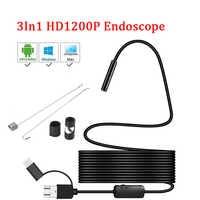 8mm objektiv Kamera Endoskop HD 1200P IP68 2M Fest Flexible Rohr Mirco USB Typ-C Endoskop video Inspektion für Android Endoskop
