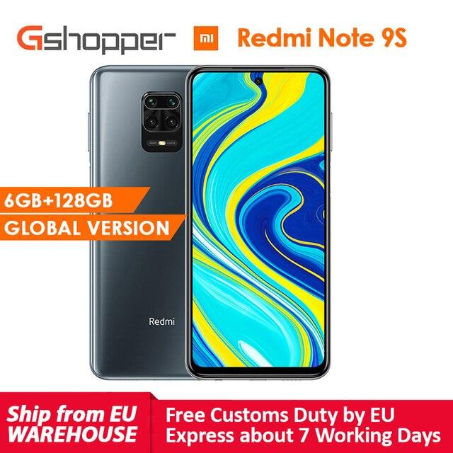 Küresel sürüm Xiaomi Redmi not 9 S 6GB 128GB Smartphone Snapdragon 720G Octa çekirdek 5020 mAh 48MP dört kamera notu 9 S