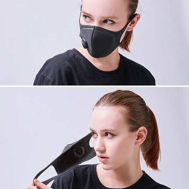 2Pcs BYEPAIN Respiratory Mask Upgraded Version Men Women Pm2.5 Pollen 3D Cropped Breathable Valve Mouth Mask 3