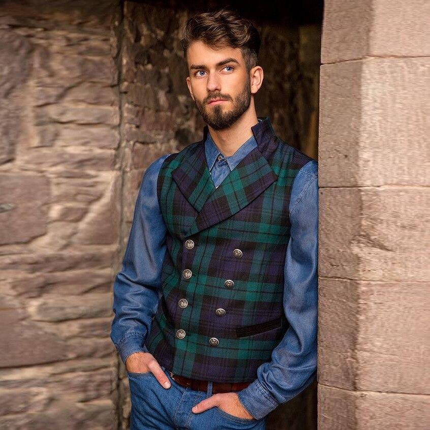 Men's Suit Vest 2020 Autumn Suit Vest Men Jacket Sleeveless Elegant Vintage Tweed Vest Fashion Spring Autumn Plus Size Waistcoat