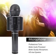 Marke Neue Professionelle Bluetooth Drahtlose Mikrofon Lautsprecher Handheld Mikrofon Karaoke Mic KTV Musik Player Singen Recorder