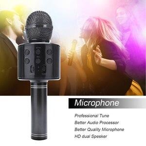 Image 1 - Tout nouveau haut parleur de Microphone sans fil Bluetooth professionnel Microphone à main karaoké micro KTV lecteur de musique enregistreur de chant