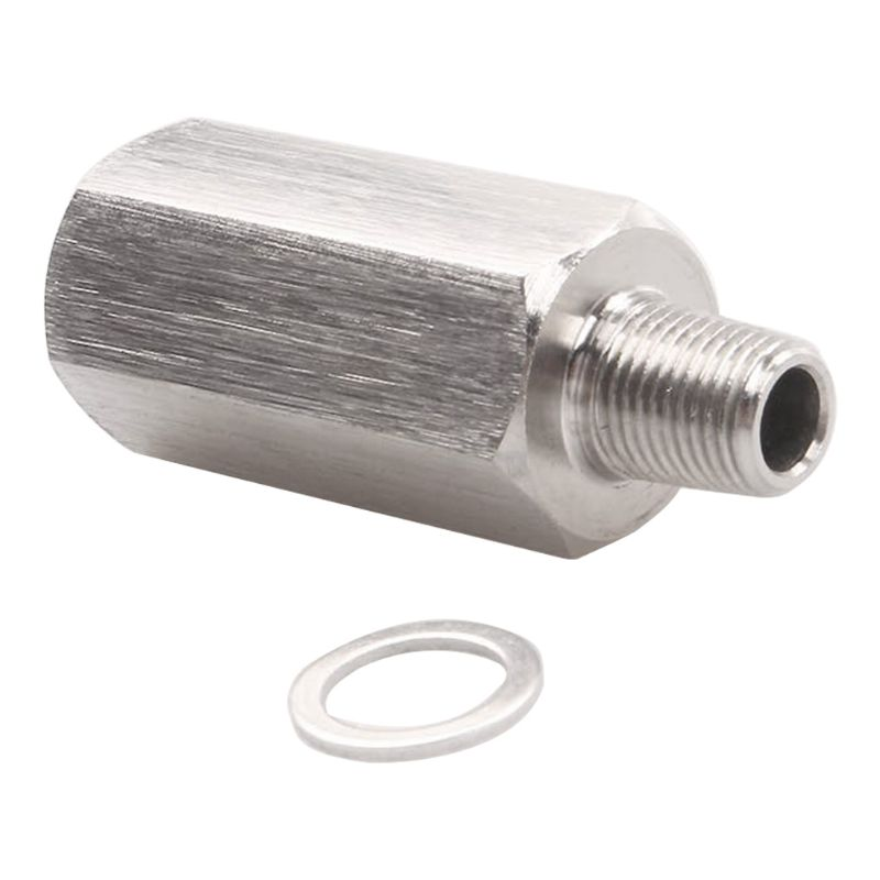 "1//8/"" BSPT Oil Pressure Sensor Tee to NPT Adapter Turbo Supply Feed Line Gauge T"