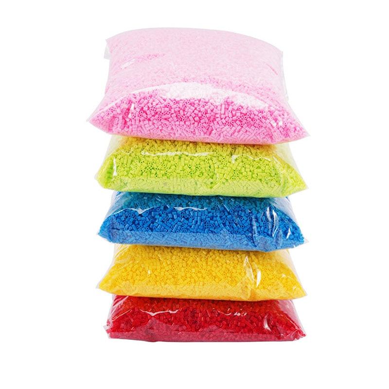 45000pcs/bag 2.6mm Hama Beads 3d Puzzle Toy Kids Education Diy Fuse Beads Toys 3D Puzzle Fuse Hama Beads 72 Colors Choose