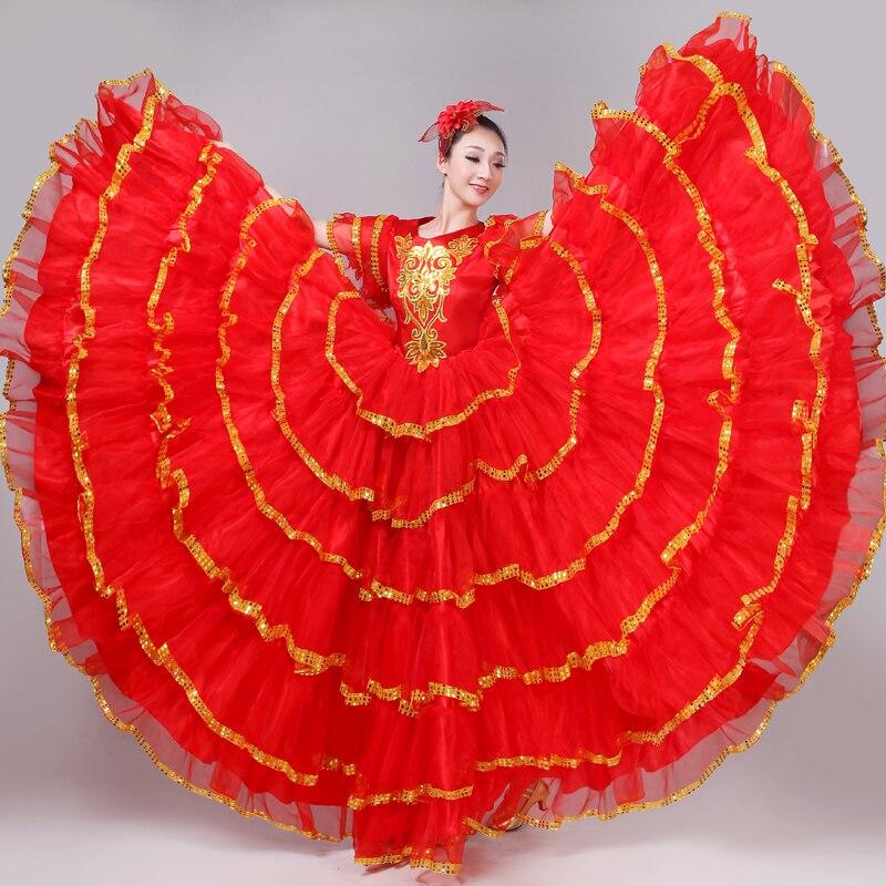 Горячая новинка, Брендовая женская юбка для танцев, большая юбка для танцев, танцевальный костюм для сцены, Дамская длинная юбка для хора