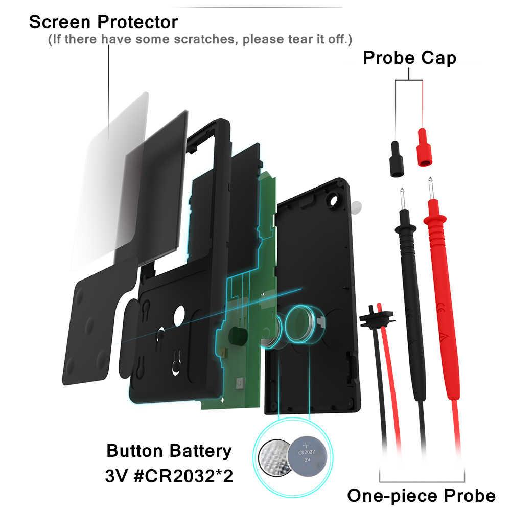MAXRIENY S9CL Digital Multimeter Mini EBTN Tampilan Voltmeter LCD Tegangan Kapasitansi Frekuensi Hambatan Ohm Diode NVC Tester
