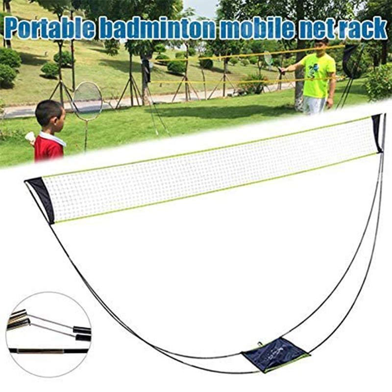 3M Portable Badminton Net Frame Support Tennis Volleyball Training Square Mesh Tennis Net Square  Network Badminton