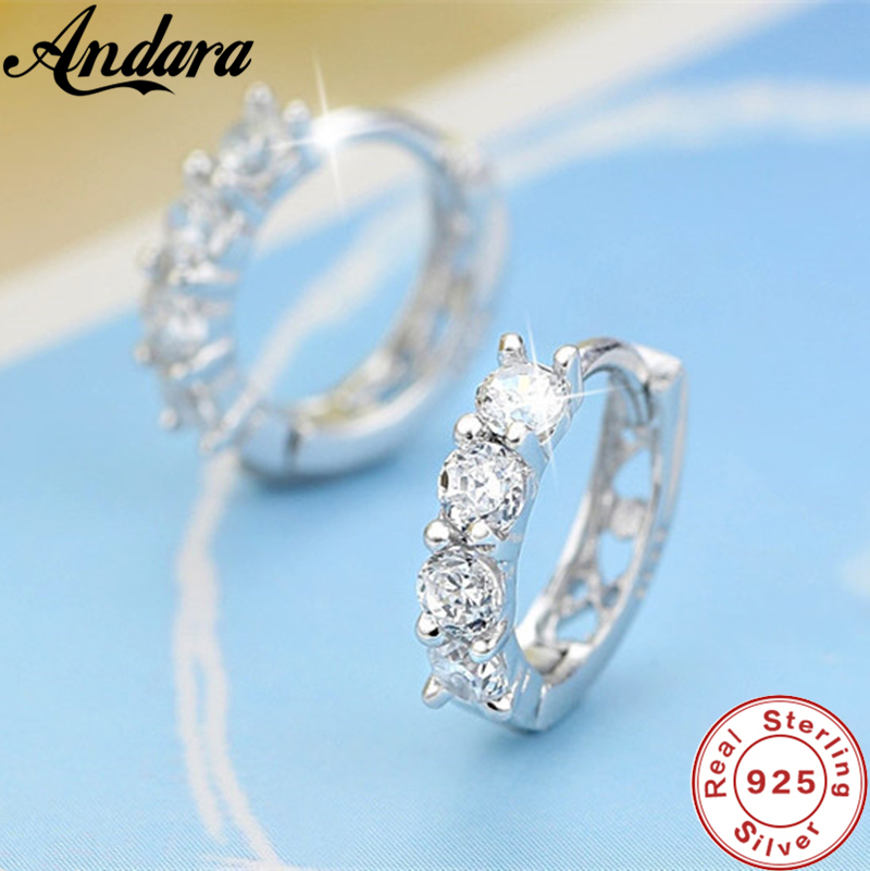 Wholesale 925 Sterling Silver Earrings Inlaid With Zircon Crystal Earrings For Women Wedding Jewelry Gifts Super Discount 7adf7 Cicig