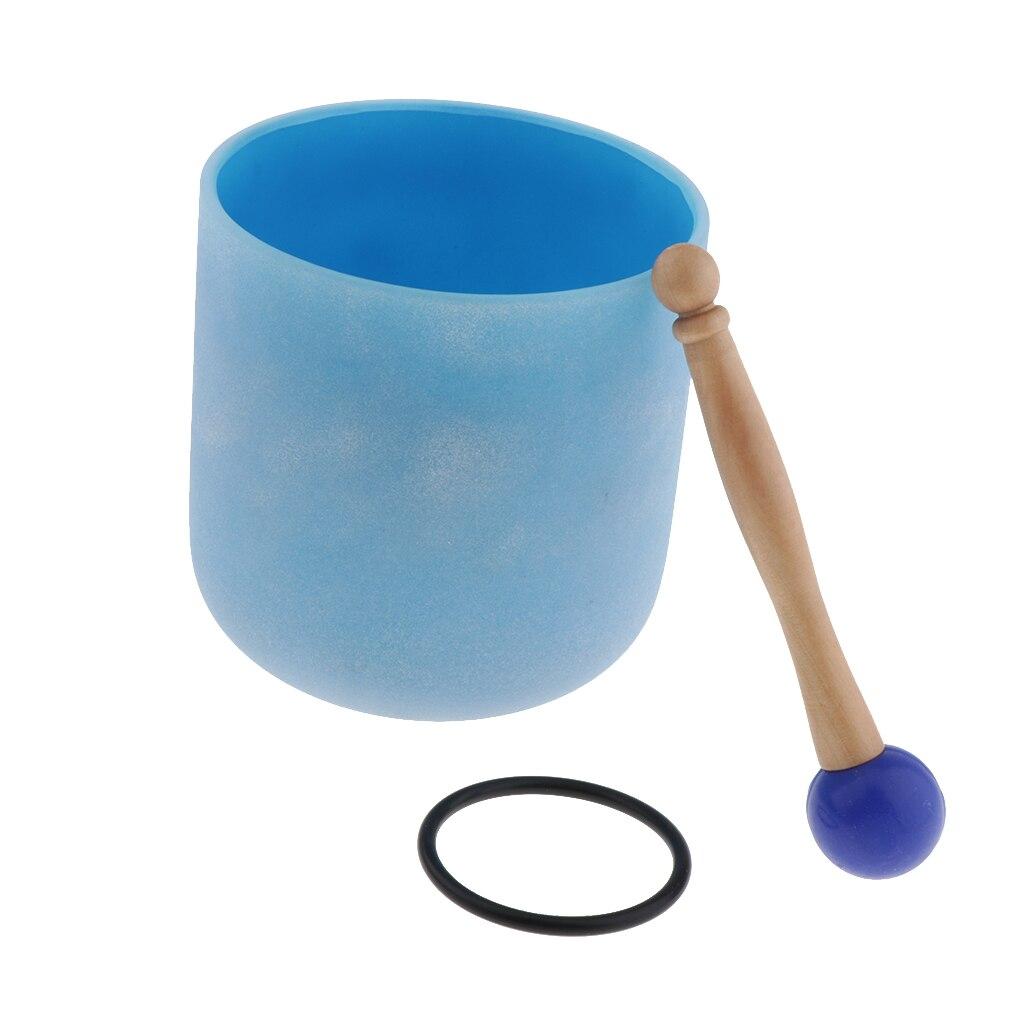 Cristal chantant bol C Note coeur Chakra 6 pouces (joint torique et maillet en caoutchouc inclus), aider les gens à méditer-4 couleurs en option - 5