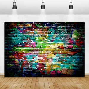 Image 3 - Laeacco Brick Wall Backdrops Vintage Grunge Baby Portrait Photography Backgrounds Birthday Party Photocall For Photo Studio Prop