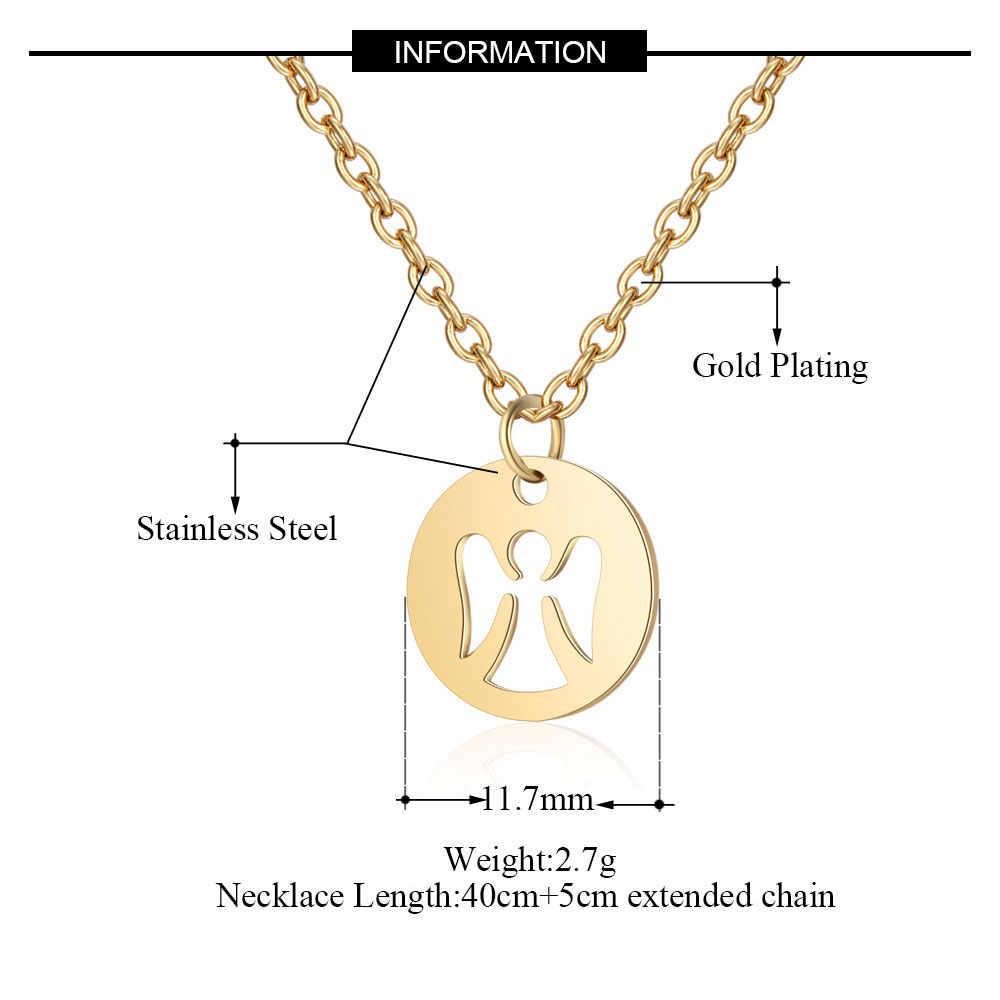 100% ze stali nierdzewnej joga OM Feather Charm naszyjniki dla kobiet hurtownie drzewo życia łapacz snów Dainty biżuteria Dropshipping