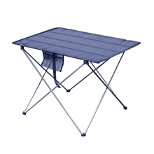 Folding Table Bbq Picnic Portable Camping Outdoor Aluminum Alloy Silver