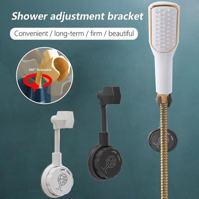 Универсальный Регулируемый ручной держатель для душа на присоске держатель для душевой рейки держатель для головки ванной комнаты стабиль...