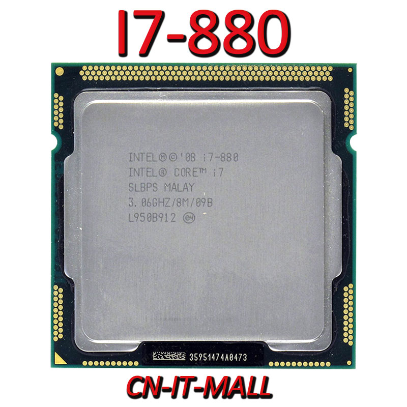 Intel Core I7-880 CPU 3.06G 8M 4 Core 8 Thread LGA1156 Processor