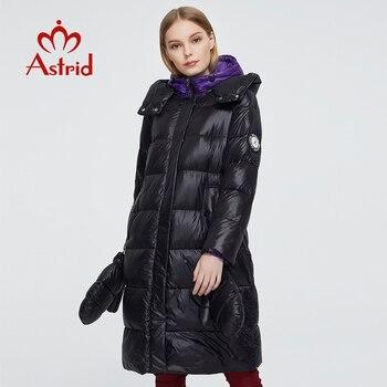 Astrid 2020 delle Nuove donne di Inverno cappotto donne parka caldo di modo del Rivestimento di spessore con i guanti con cappuccio di grandi dimensioni abbigliamento femminile ZR-3559 1