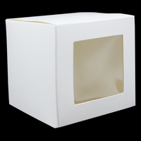 200Pcs Paper Box with Clear Window Handmade Soap Packaging Boxes Jewelry Display Gift package Cardboard Packing Craft Cake Box