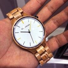 בובו ציפור חדש часы мужские Relogio Masculino עץ שעון יד גברים שעונים זכר שעון עם תיבת עץ מקבלים Dropshopping