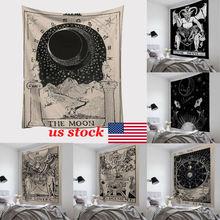 Fashion Tapestry Fresh Style Tarrot Sun Moon Pattern Blanket Mandala bohemian Decorative Hippie tapestry Home Decor