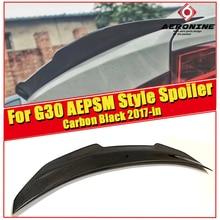 For BMW G30 Sedan Trunk spoiler wing PSM style Carbon fiber 5 series 520i 530i 535iGT 540i 540iXD Rear Diffuser wing spoiler 17- цены онлайн