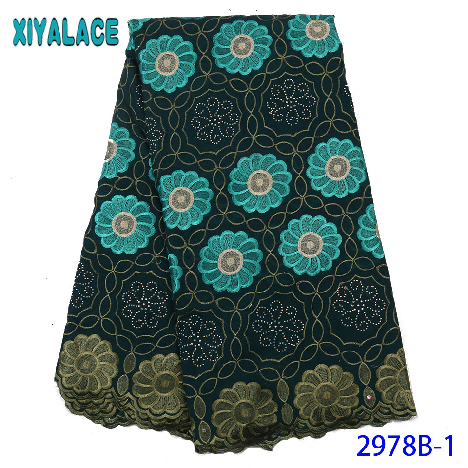 Nigeria Lace Fabric 2019 High Quality Lace Cotton Lace African Nigerian Laces For Women Dresses KS2978B-1