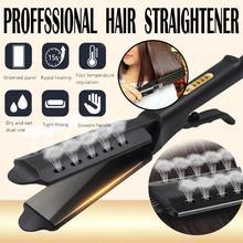 Выпрямитель для волос с четырьмя зубцами, регулировка температуры, керамический турмалин, ионный плоский утюжок, выпрямитель для волос для женщин, расширенная панель