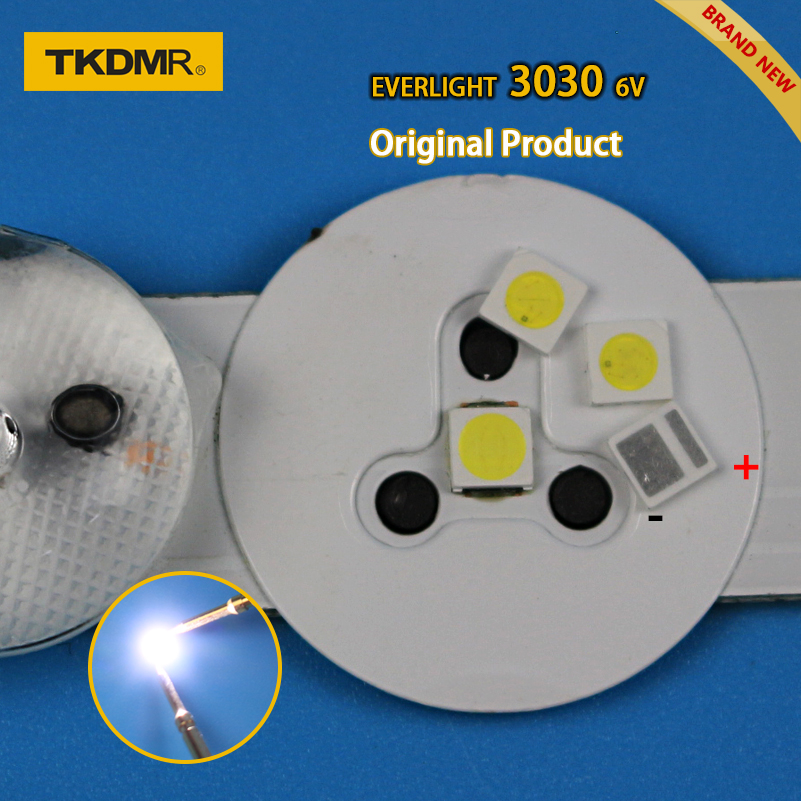 TKDMR 50pcs Led Tv Backlight 1.8W 3030 6V Kit Electronique Led Led For Lcd Tv Repair Assorted Pack Kit Cool White Free Shipping