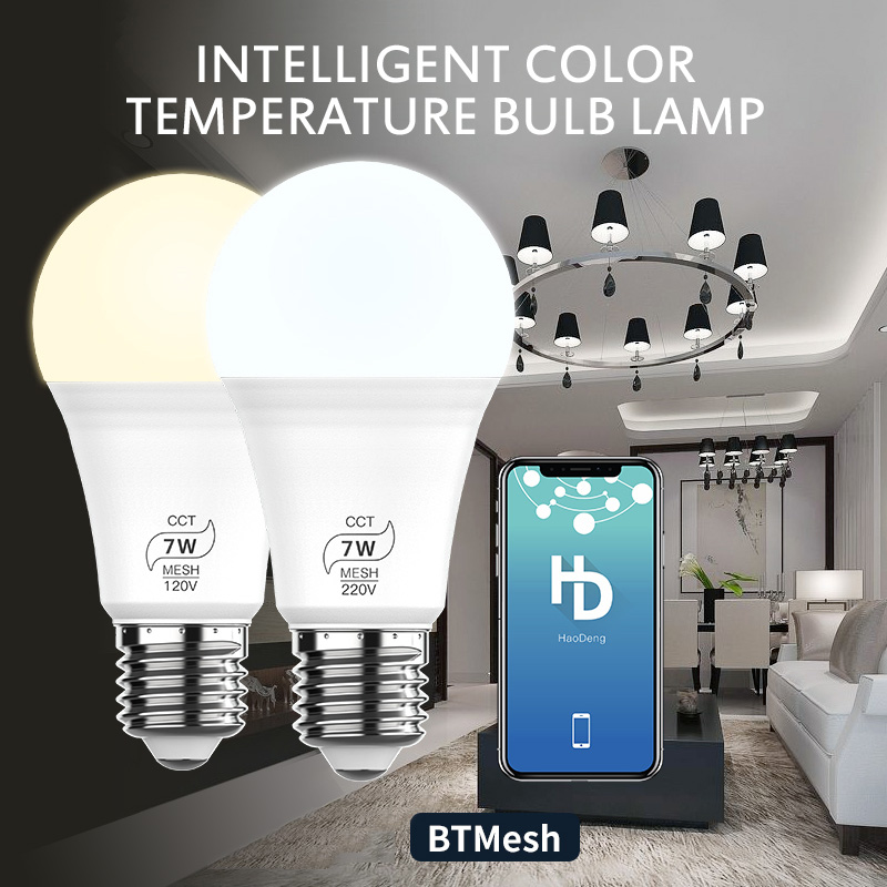 AC100-240V Bluetooth 7W RGBW Led Bulb Lamb BT Mesh Smart Home Led Light Color Convertible Dimmable FOR IOS Android System