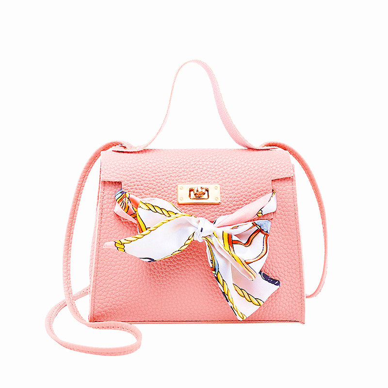 Women Leather Handbags Locked Lychee Tote Bag Bow Decoration Shoulder Messenger Bag 2019 Summer New Women's Bag