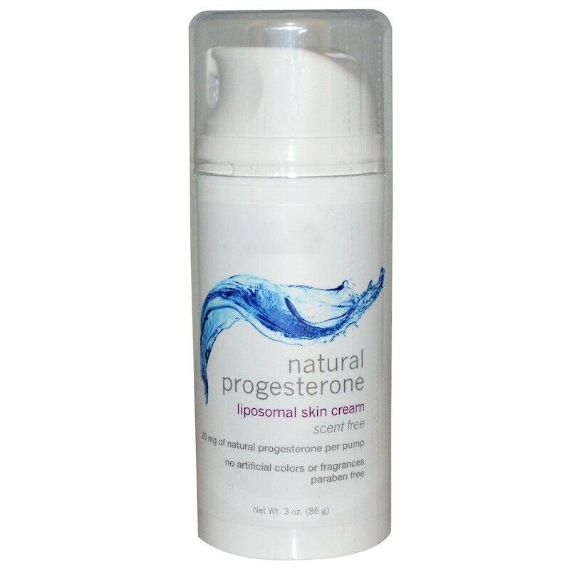 Natural Progesterone Balancing Skin Cream Unscented 3 Oz (85g) Pump