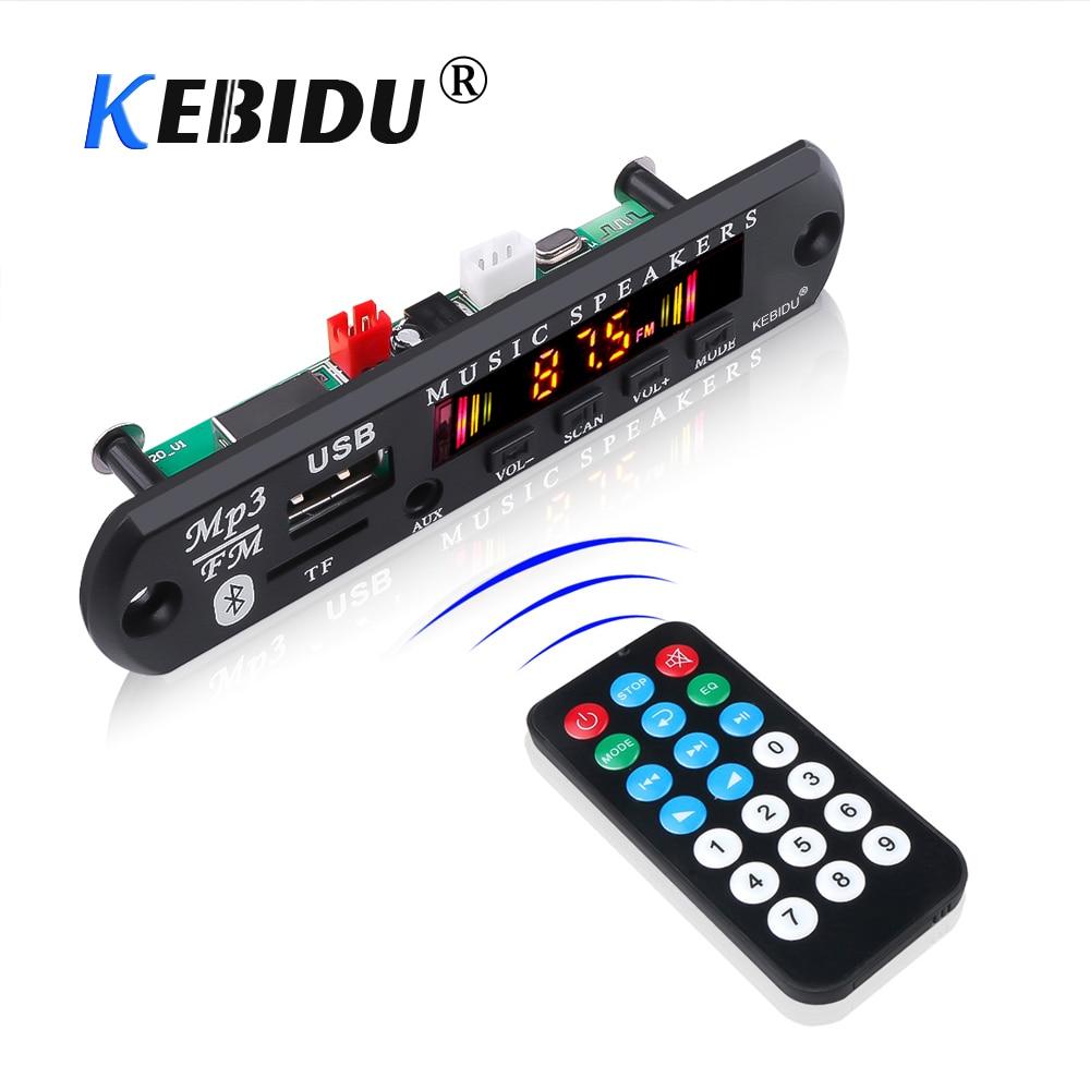 Wireless Bluetooth 5.0 MP3 WMA Decoder Board 5V 12V Car Audio USB TF FM Radio Module Color Screen MP3 Player With Remote Control(China)