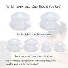 3pc/6pc latas de vácuo para a massagem facial silicone cupping copos anti celulite umidade absorvente rosto massagem frascos copo ventosas