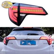 цена на Car LED Tail Light Taillight For Honda HR-V HRV 2014 - 2018 2019 Rear Fog Lamp + Brake Light + Reverse + Dynamic Turn Signal