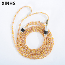 Large Gold, silver and copper mixed wire MMCX 0.78mm 2 Pin QDC TFZ Headphone Upgrade Cable