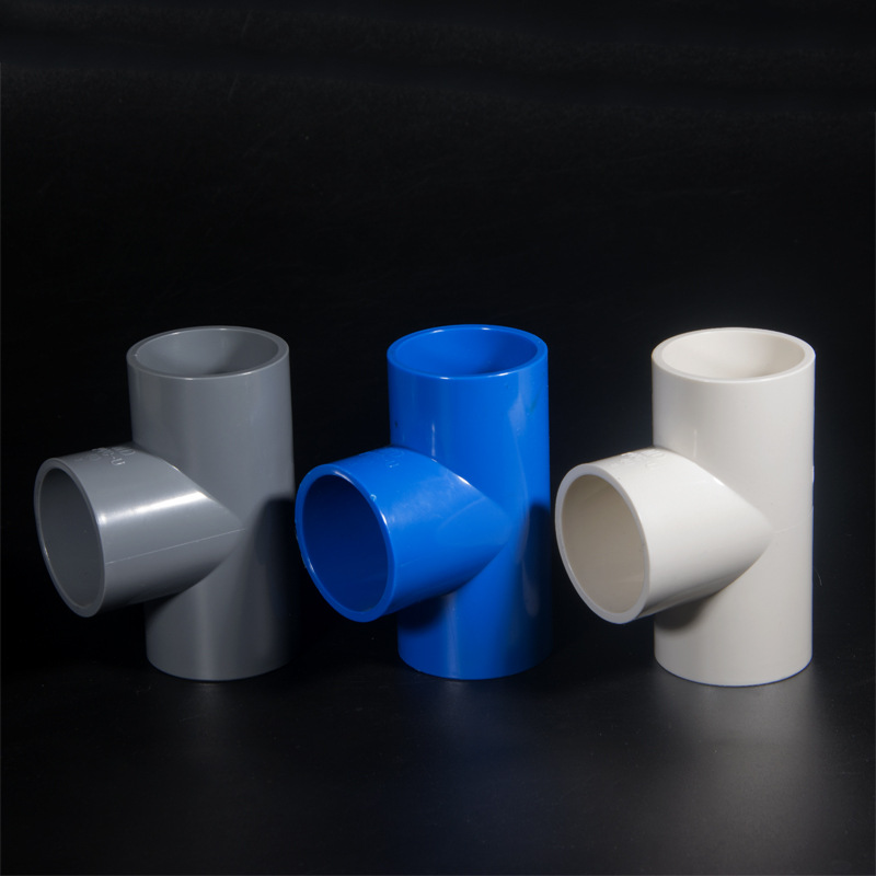 PVC Reducing Tee Joint Reducing T-connector Sheung Shui Water Supply Pipe 20 25 32 40 50 63