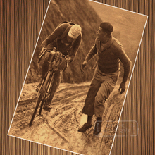 Cartel sobre lienzo de ciclismo en bicicleta Retro con adornos de pared de papel para decoración del hogar