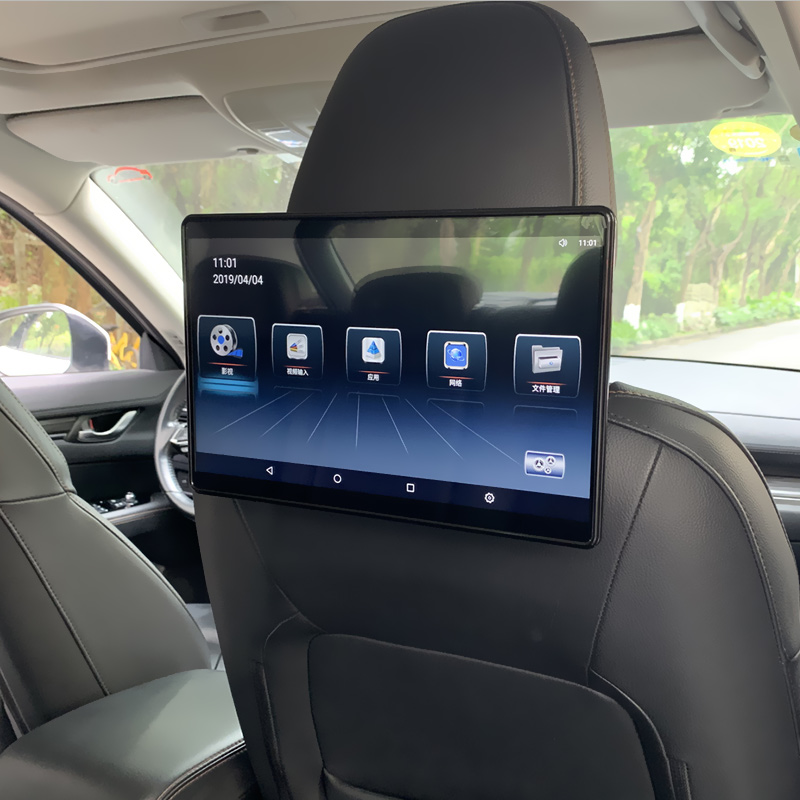 Car TV Headrest Monitor Touch Screen 12.5 Inch Android 4K 1080P WIFI/Bluetooth/USB/SD/HDMI/FM/Mirror Link Movie Audio Player