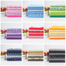 Cotton Fabric Printed Cloth Sewing Quilting Fabrics For Patchwork Needlework DIY Small Floral Plain Cotton Fabric 10 Colors 45x45cm thin soft cotton twill printed fabric diy sewing patchwork table cloth check fabric high quality cotton fabric cloth