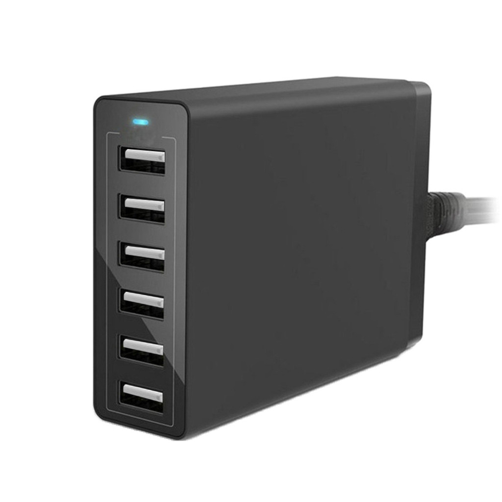 Ouhaobin 6 Port <font><b>USB</b></font> <font><b>Charger</b></font> 12A <font><b>60W</b></font> Charging US Plug Adapter Travel <font><b>Charger</b></font> Mobile Phone <font><b>Charger</b></font> Converter For Phone image