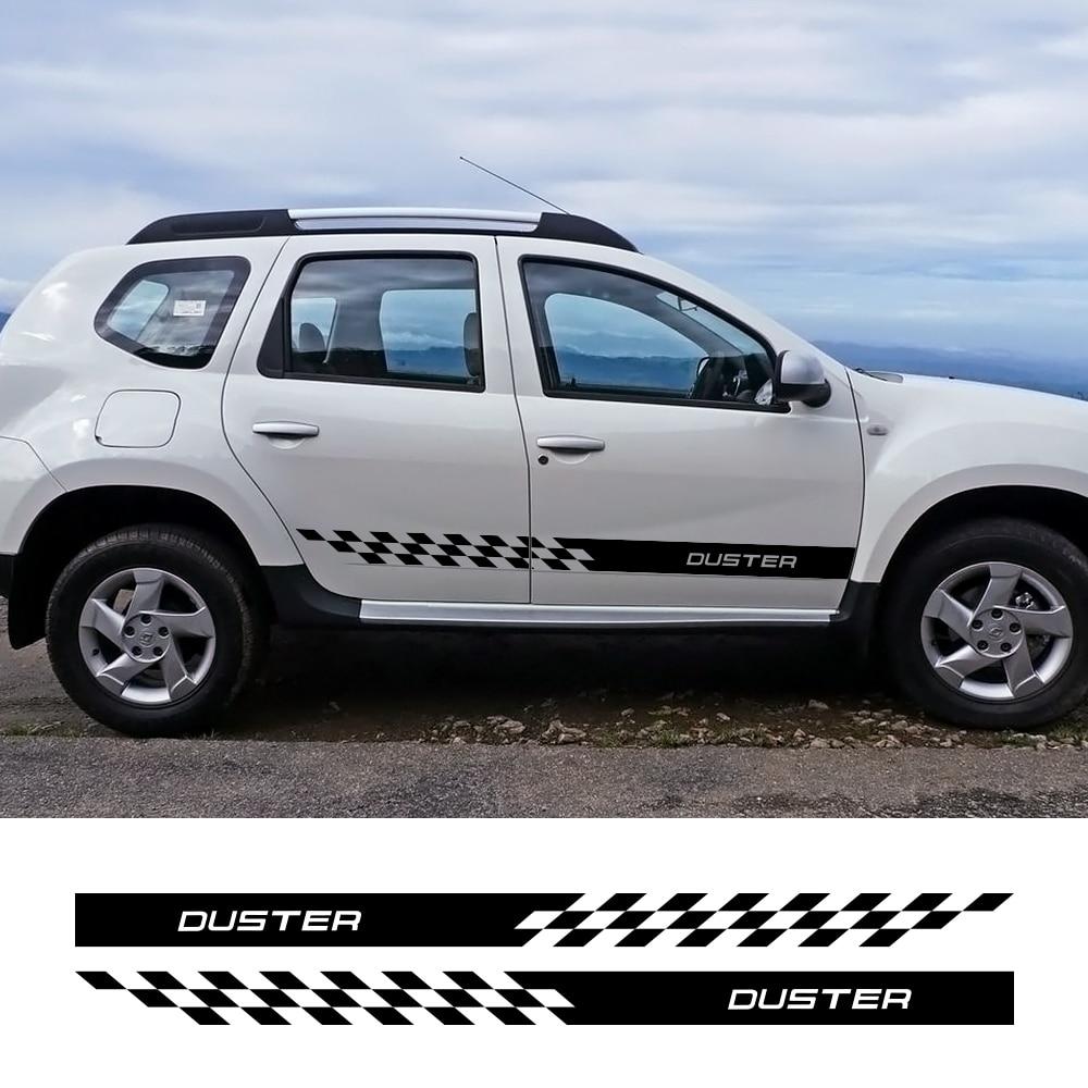 2pcs Car Sticker For Dacia Duster 4X2 4X4 1.0 Tce 100 130 Turbo GPL Black Collector Prestige Car Accessories Vinyl Film Decal