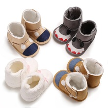 Hot Baby Infants Boots Toddler Girl Boy Shoes Newborn Wool Snow Booties Crib Shoe Winter Warm First Walkers Fashion Cartoon