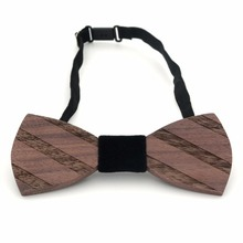 Wooden Bow Tie Holiday Wedding Business Wood Lavalier Men And Women Retro Bow Tie Wedding wooden bow tie premium handmade wooden bow tie for men